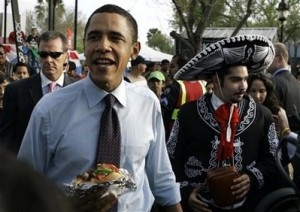 (Even Obama loves Sombrero Fest!) Photo credit/source: AP Photo/Rick Bowmer