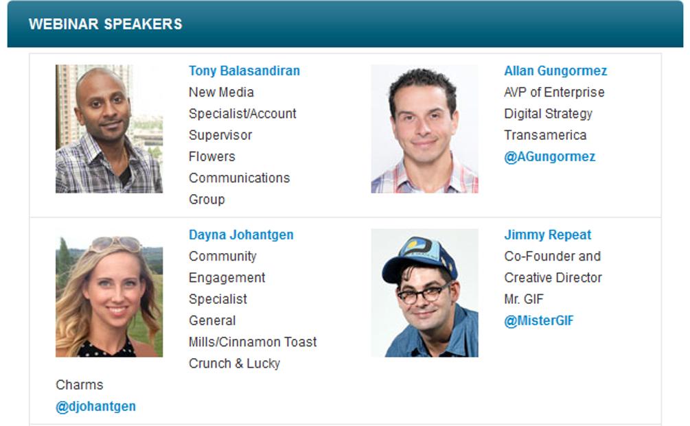 Tumblr Webinar Speakers