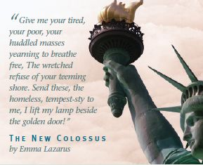 Photo credit: Disturbing the Universe Blog Quote that is mounted on a plaque on the Statue of Liberty.